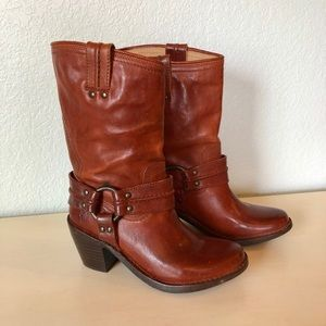 Frye Carmen Harness Short Moto Boot Size 5.5